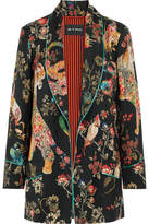 Etro Printed Wool Jacket - Black