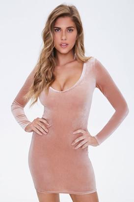Forever 21 Velvet V-Neck Mini Dress