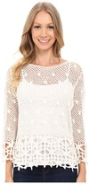 KUT from the Kloth Lola 3/4 Sleeve Crochet Sweater