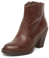 Brown leather western boots