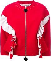 Marni ruffle bomber jacket - women - Viscose - 44