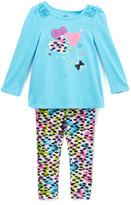 Kids Headquarters Aqua Heart Balloon Tunic & Leggings - Infant & Girls