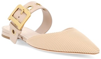 Christian Dior D Fabric & Leather Mule