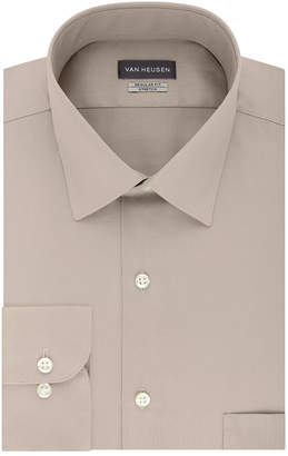 Van Heusen Non Iron Lux Sateen Mens Spread Collar Long Sleeve Stretch Dress Shirt - Big and Tall