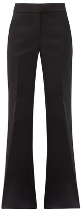 Marina Moscone High-rise Canvas Wide-leg Trousers - Black