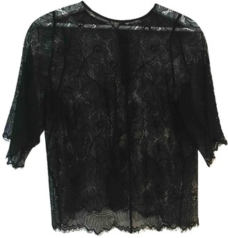 Ganni Black Lace Tops