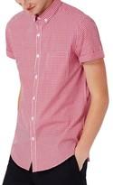Topman Men's Slim Fit Gingham Smart Shirt