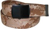 CTM® Men's Big & Tall Adjustable Belt with Digital Desert Camo Print