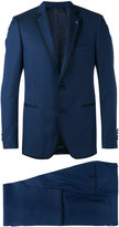 Lardini piping contrast two-piece suit - men - Silk/Cupro/Viscose/Wool - 46