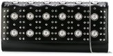 Versus lion head studded clutch