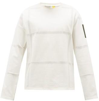 Craig Green 5 Moncler Woven Stripes Cotton Long-sleeved T-shirt - Mens - White