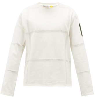 5 Moncler Craig Green - Woven Stripes Cotton Long-sleeved T-shirt - White