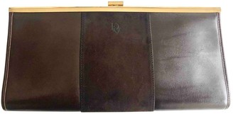 Christian Dior Brown Leather Clutch bags