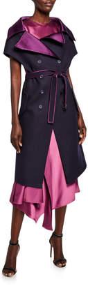 Sies Marjan Carol Satin-Back Off-the-Shoulder Vest