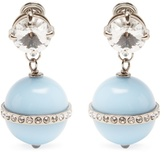 Miu Miu Bead and crystal-embellished drop earrings