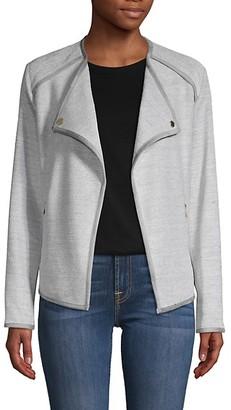 Calvin Klein Contrast-Trimmed Open-Front Jacket