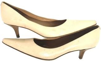 Joseph Ecru Leather Heels