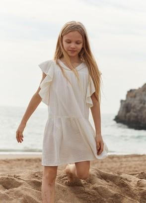MANGO Ruffled structured dress
