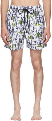 Vilebrequin White Moorea Bamboo Song Swim Shorts