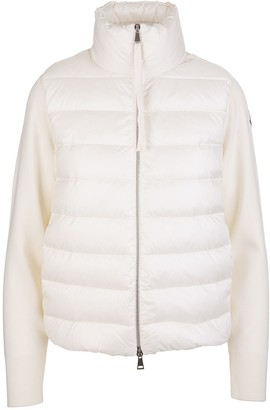 Moncler Woman White Padded Cardigan