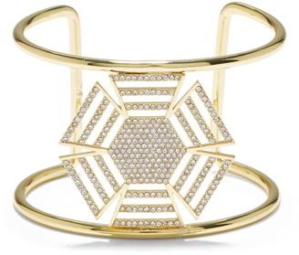Vince Camuto Crystal Deco Cuff Bracelet