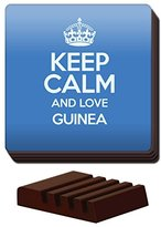BLUE Set of 4 Keep Calm and Love Guinea Coaster COLOUR 1750