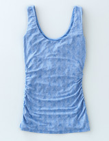 Boden Ruched Scoop Neck Tank