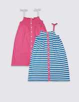 Marks and Spencer 2 Pack Pure Cotton Dress (3 Months - 5 Years)