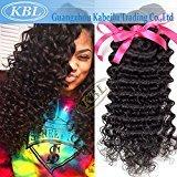 "KBL Grade 5A Brazilian Curly Hair Wave Extensions 100% Virgin Remy Human Hair 3 Bundles Natural Black (12"" 14"" 16"")"