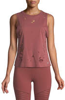 Alo Yoga Harley Distressed Muscle Tank Top