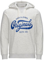 Jack and Jones Heathered Drawstring Hoodie