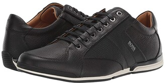 HUGO BOSS Saturn Low Profile Leather Sneaker by BOSS (Black) Men's Shoes