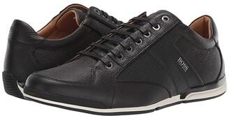 HUGO BOSS Saturn Low Profile Leather Sneaker by Black) Men's Shoes