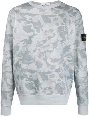 Stone Island Camouflage-Print Sweatshirt