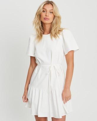 The Fated - Women's White Mini Dresses - Alina Mini Dress - Size 6 at The Iconic