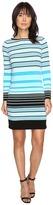 MICHAEL Michael Kors Abbey Stripe Long Sleeve Border Dress