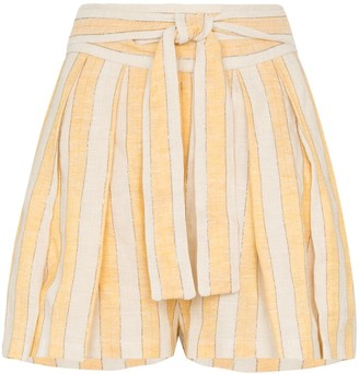 Three Graces Jola stripe tie-waist shorts
