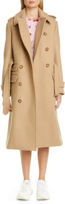 Stella McCartney Double Face Wool Trench Coat