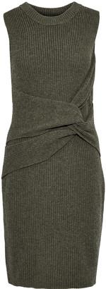 3.1 Phillip Lim Twist-front Ribbed Wool And Yak-blend Mini Dress