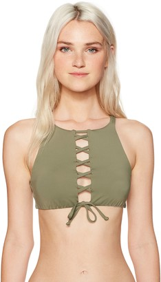 Roxy Women's Printed Strappy Love Bustia Bikini Top