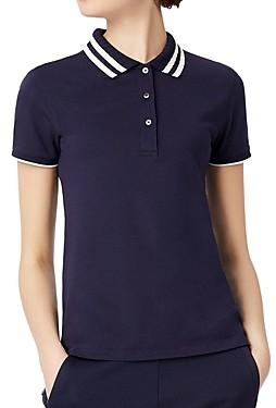 Tory Sport Pleated-Collar Polo Shirt
