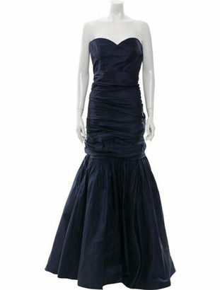 Oscar de la Renta 2015 Long Dress Blue