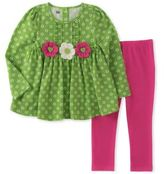 Kids Headquarters Little Girl's Two-Piece Floral Tunic & Leggings Set