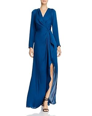 BCBGMAXAZRIA Faux-Wrap Gown