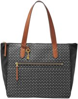 Fossil Fiona Striped East/West Tote