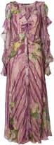 Alberta Ferretti floral ruffle dress
