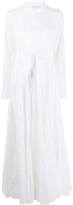 Mes Demoiselles Long-Sleeve Flared Shirt Dress