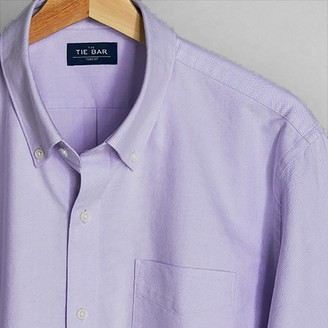 Tie Bar The Modern-Fit Oxford Lavender Casual Shirt