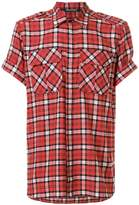 Neil Barrett checked short sleeve shirt