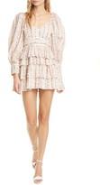 LoveShackFancy Astor Floral Ruffle Long Sleeve Cotton Minidress